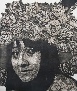 EL EMBRUJO, Xilografia, 120cmx 100cm, 2013.